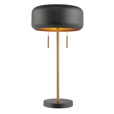 2 Light Metallic Dark Gray Floor Lamp - Novogratz x Globe