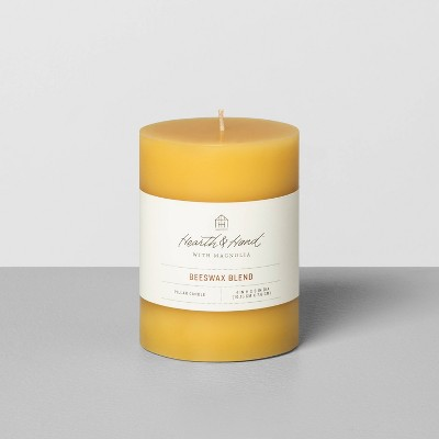 Beeswax Blend Pillar Candle - Hearth & Hand™ with Magnolia