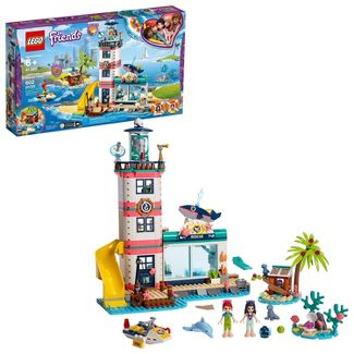 LEGO Friends Lighthouse Rescue Center Building Kit with Mini Dolls and Toy Animals 41380