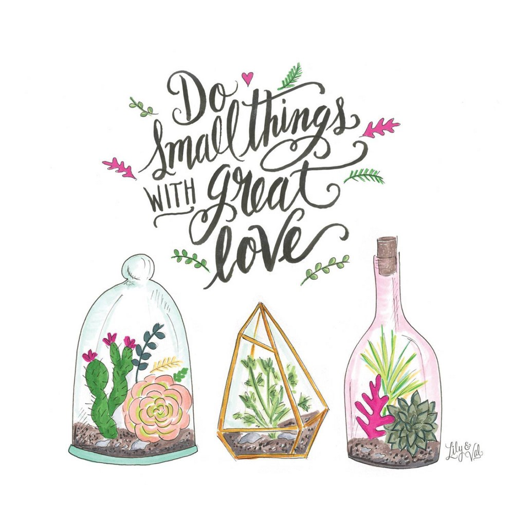 Image of 4pk Ceramic Small Things Great Love Coasters - Thirstystone