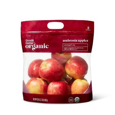 Organic Ambrosia Apples - 2lb Bag - Good & Gather™