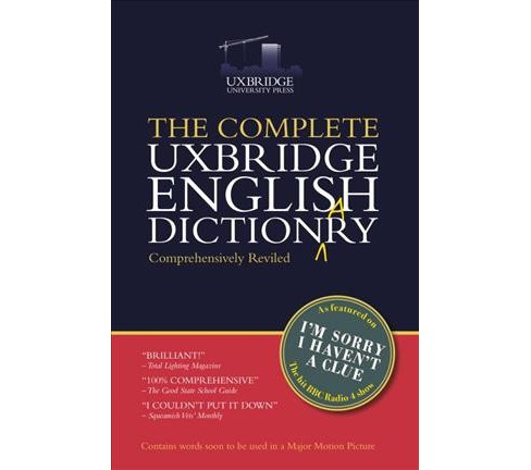 Complete Uxbridge English Dictionary -  Reprint (Paperback) - image 1 of 1