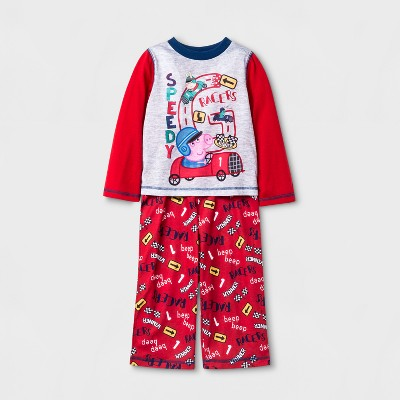 Toddler Boys' Peppa Pig Pajama Set - Red 4T