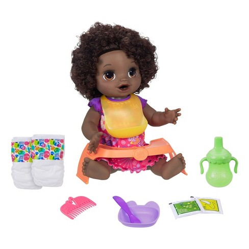 Baby Alive Happy Hungry Baby - Black Curly Hair - image 1 of 4