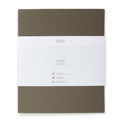 "1"" 200 sheet Round Ring Binder Chalk - Good Office Day"