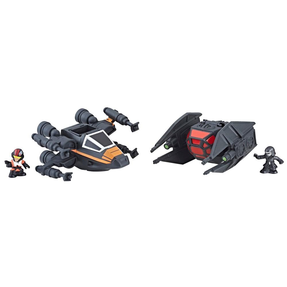 Star Wars Micro Force Poe's X-wing Fighter vs. Kylo Ren's Tie Silencer 2pk