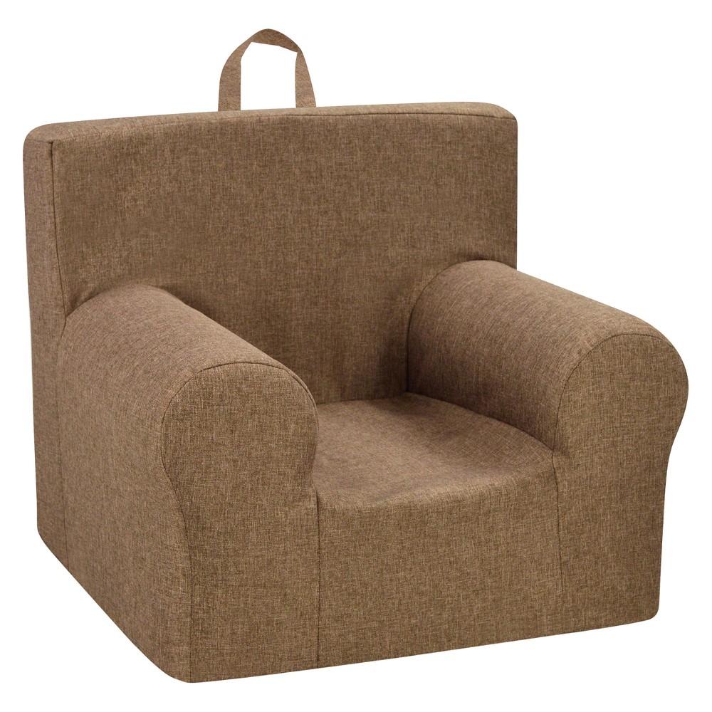 Weston Grab-N-Go Kids' Foam Chair With Handle - Jitterbug Pecan - Kangaroo Trading Co., Brown