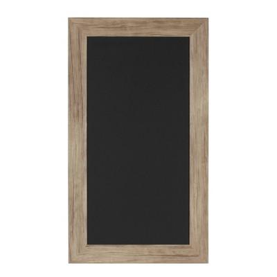 "23"" x 13"" Beatrice Framed Magnetic Chalkboard Rustic Brown - DesignOvation"