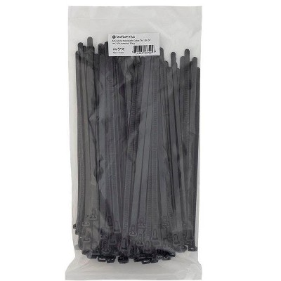 Monoprice 10-inch Releasable Cable Tie, 100pcs/Pack, 50 lbs Max Weight - Black