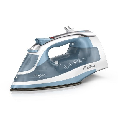 BLACK+DECKER Steam Iron Retractable Cord - Gray