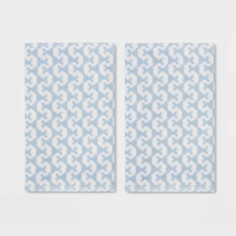 Image of 2pk Lionheart Hand Towel Blue - Threshold