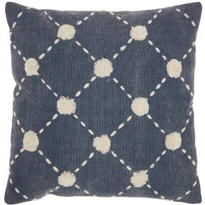 "20""x20"" Diamond Embroidered Dots Throw Pillow - Mina Victory : Target"