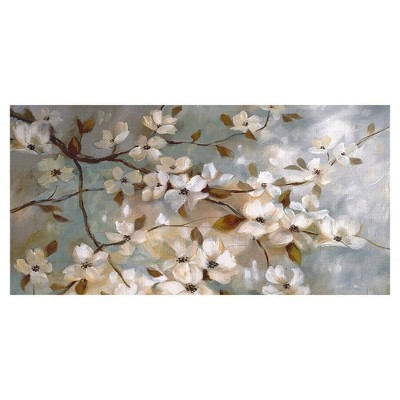 "24"" x 48"" Blossoms of May Panel by Nan Art on Canvas - Fine Art Canvas"