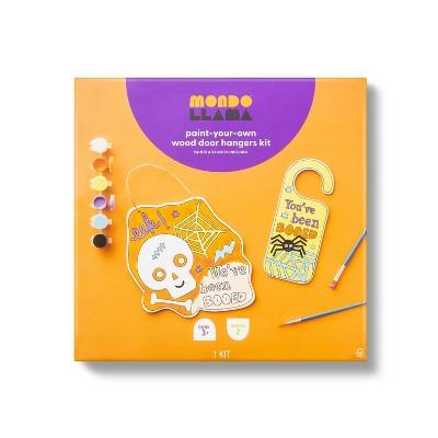 Paint Your Own Wood Door Hangers Kit with Paints - Mondo Llama™