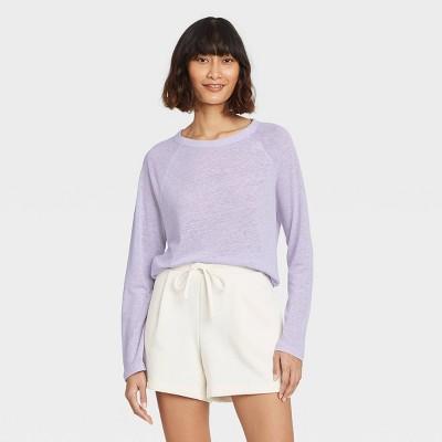Women's Long Sleeve Linen T-Shirt - A New Day™