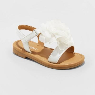 Toddler Girls' Grace Ankle Strap Sandals - Cat & Jack™ White 6