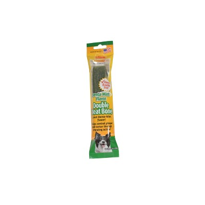 Ultra Chewy Dental Treat Double Bones Denta-Mint Flavor Single Dry Dog Treat - 2.8oz