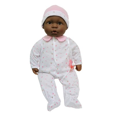 """JC Toys La Baby 20"""" Baby Doll - Pastel Pink Outfit with Pacifier"""