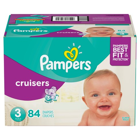 Pampers Cruisers Diapers Super Pack Select Size