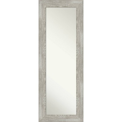 "20"" x 54"" Dove Graywash Framed On the Door Mirror - Amanti Art"