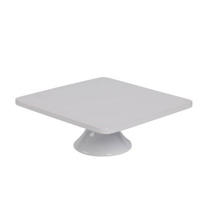 """Denmark Tools for Cooks 12"""" Procelain Square Cake Plate - White"""