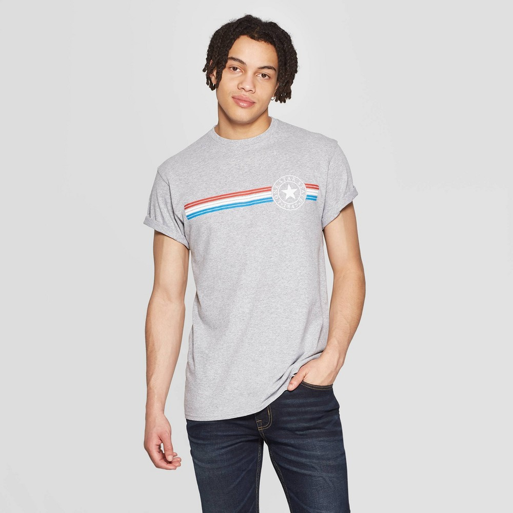 Men's Short Sleeve Crewneck Lone Star Graphic T-Shirt - Modern Lux Gray M