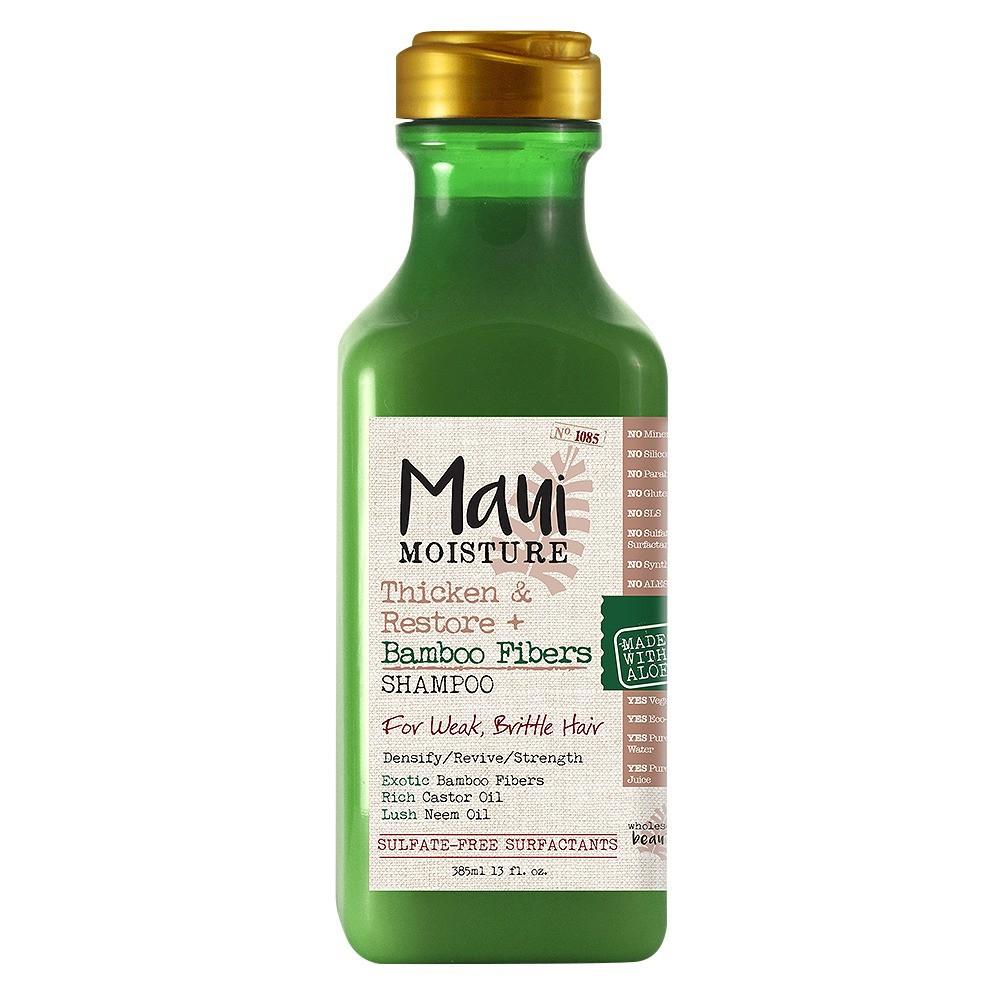 Maui Moisture Thicken & Restore + Bamboo Fibers Shampoo for Weak Brittle Hair - 13 fl oz
