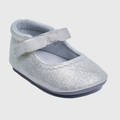 Baby Girls' Ro+Me by Robeez Mary Jane Shoes - Silver 6-12M
