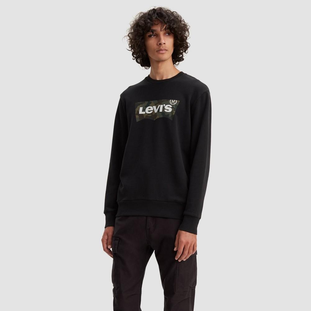 Levi's Men's Camo Print Logo Crewneck Sweatshirt - Black L, Men's, Size: Large was $49.99 now $27.49 (45.0% off)