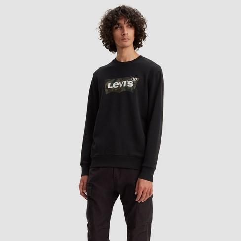 Levi's® Men's Camo Print Logo Crewneck Sweatshirt - Black - image 1 of 2