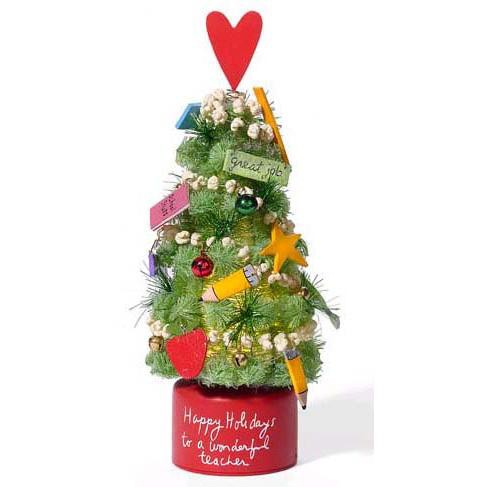 Department 56 Christmas Tree.Department 56 Lighted 11 5 Holiday Teacher Christmas Tree