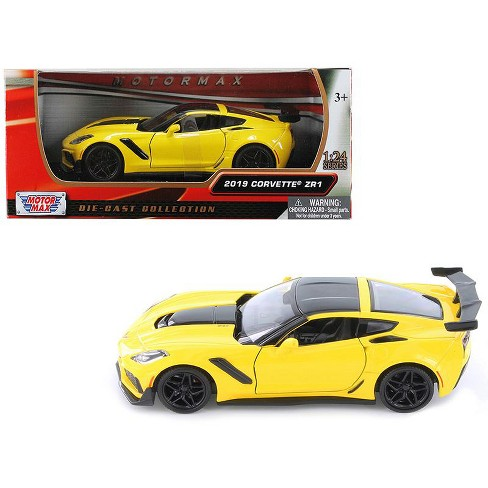 2019 Chevrolet Corvette ZR1 Yellow with Black Accents 1/24 Diecast Model Car by Motormax - image 1 of 3