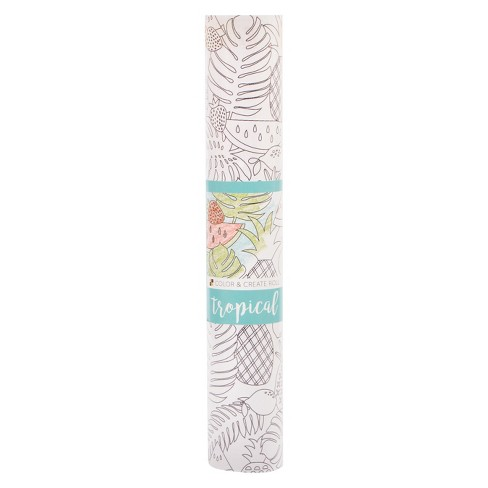 "DCWV® Colorable Paper Roll, 12"" x 72"" - Tropical - image 1 of 1"