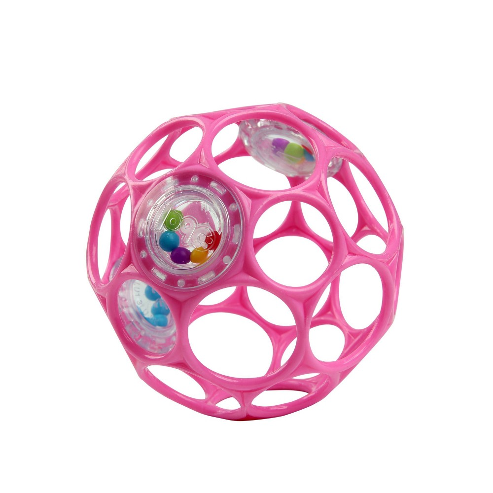 Image of Oball Toy Ball Rattle - Pink
