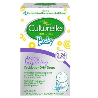 Culturelle Baby Probiotic + DHA Drops - 0.57 fl oz