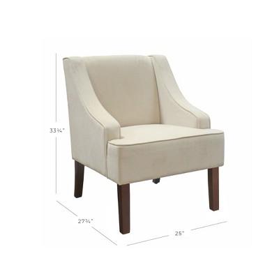 Velvet Swoop Arm Chair   Eggshell   HomePop : Target