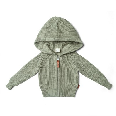 Goumikids Organic Cotton Knit Hoodie for Toddlers