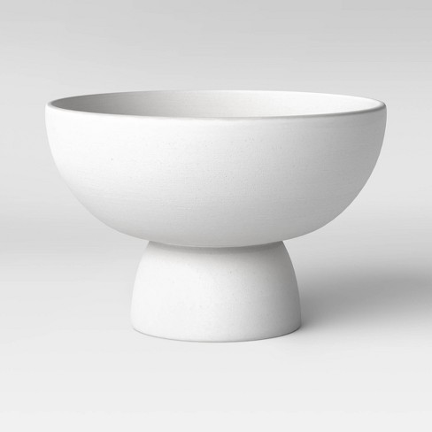 "6"" x 10"" Ceramic Footed Bowl White - Project 62™ - image 1 of 3"