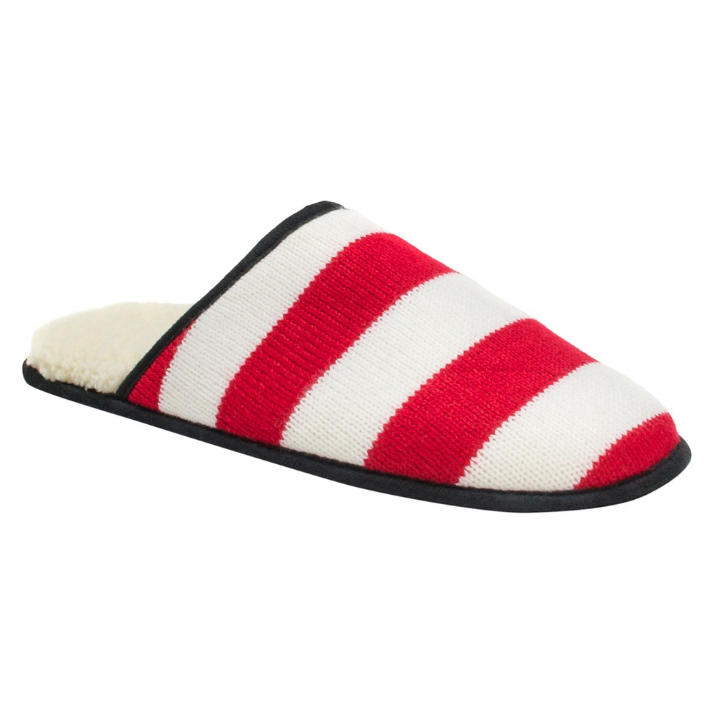 Men's Muk Luks Game Day Scuffs - Red/White S