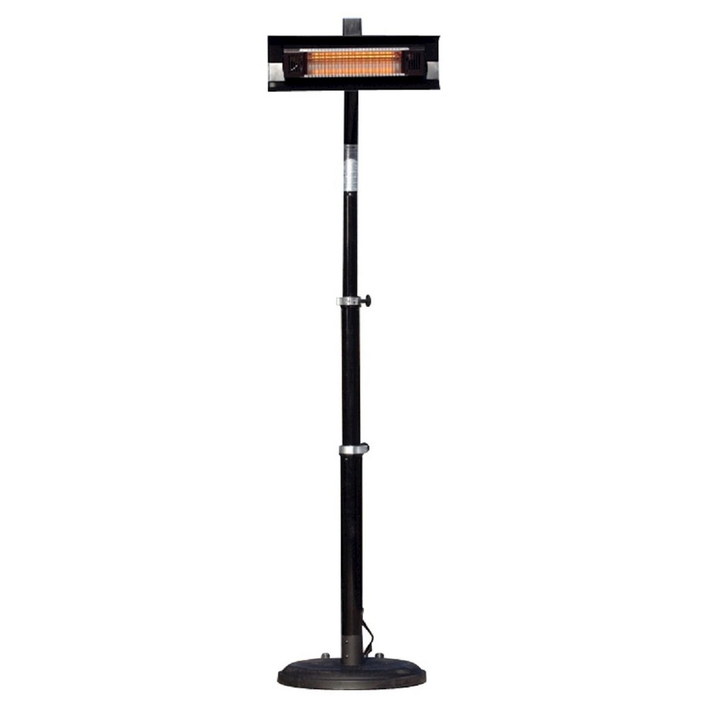 Fire Sense Black Powder Coated Steel Telescoping Offset Pole Mounted Infrared Patio Heater