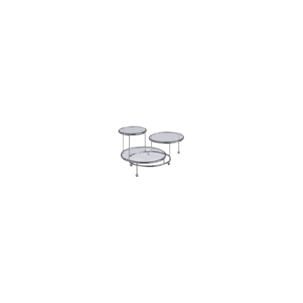 Wilton Cakes-and-More 3-Tier Party Stand, Silver