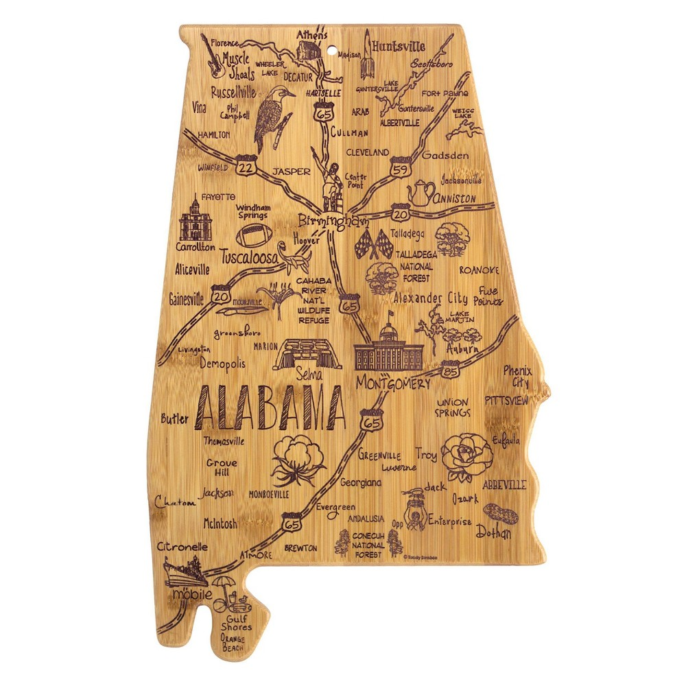 Image of Totally Bamboo Destination Alabama Serving and Cutting Board