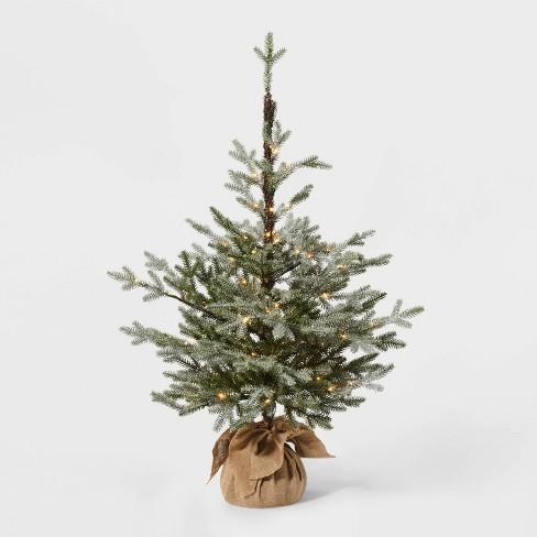 3.5ft Pre-Lit Glittered Balsam Fir Artificial Tree Dew Drop LED Lights - Wondershop™ - image 1 of 3