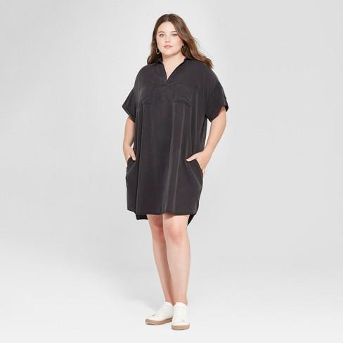 Women\'s Plus Size Shirtdress - Universal Thread™ Black 4X : Target