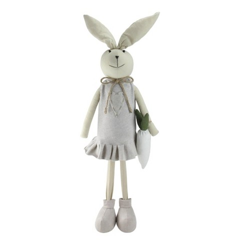 "Northlight 27.5"" Standing Easter Bunny Girl Spring Figure - Gray/Tan - image 1 of 2"