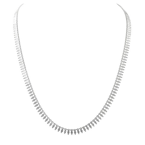 "Women's Journee Collection Dainty Multi-Pendant Necklace in Sterling Silver - Silver (18"") - image 1 of 2"