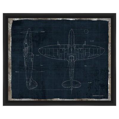 "18"" x 22"" Plane Single Picture Frame Black - PTM Images"