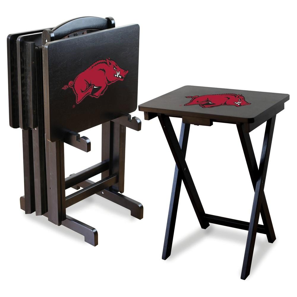 NCAA Imperial TV Trays with Stand - 4pk Arkansas Razorbacks