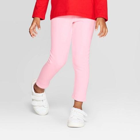Toddler Girls' Cozy Leggings - Cat & Jack™ Pink - image 1 of 3