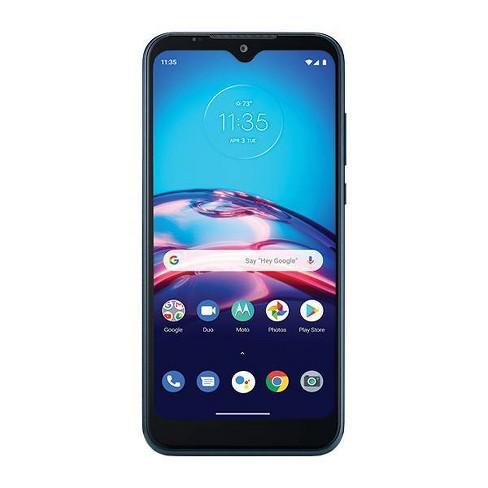 Consumer Cellular Postpaid Moto E (32GB) - Blue - image 1 of 4